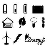 Energy icons. Stock Photos