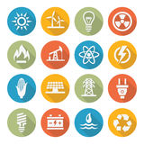 Energy icons Stock Photography