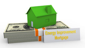 Energy improvement mortgage Royalty Free Stock Image