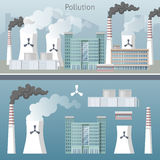 Energy Industry Air Pollution Cityscape Royalty Free Stock Photo
