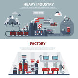 Energy And Industry Banners Stock Images
