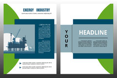 Energy industry brochure Royalty Free Stock Images