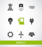 Energy industry concept icon Stock Photography