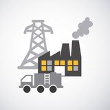Energy industry concept icon Stock Image
