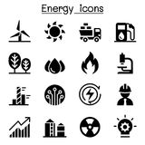 Energy industry icon set Stock Photography