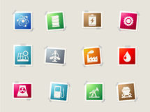 Energy and Industry icons set Stock Image
