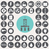 Energy and industry icons set. Stock Photo