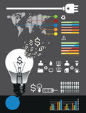 Energy infographic  Stock Image