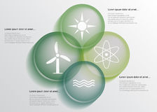 Energy infographic stock illustration