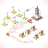 Energy 12 Infographic Isometric Stock Images