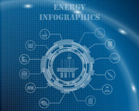 Energy Infographic Template Stock Image