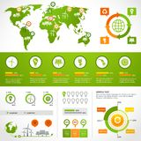 Energy infographics layout template Royalty Free Stock Images