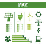 Energy infographics Royalty Free Stock Photos