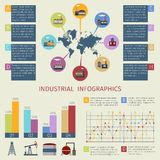 Energy infographics set Stock Images