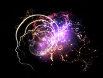 Energy of Inner Thoughts Stock Photo