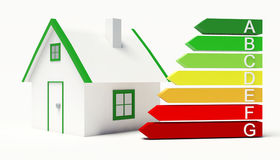 Energy Label. House building classification Stock Image