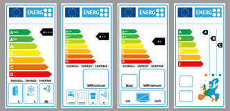 Energy labels Stock Photography