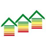 Energy labels on white background Stock Image