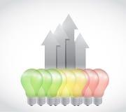 Energy light bulb graph illustration design Stock Photography