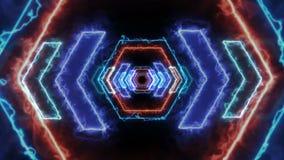 Energy light VJ tunnel. 3d render. FullHD stock video footage