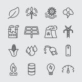 Energy line icon Stock Photography