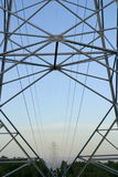 Energy Lines. Energy line towers and power lines Royalty Free Stock Photography
