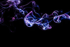 Energy lines. Abstract shapes with smoke. Stock Images