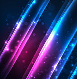 Energy lines, glowing waves in the dark, vector abstract background. Vector business or technology presentation design template, brochure or flyer pattern, or Royalty Free Stock Photo