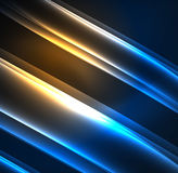 Energy lines, glowing waves in the dark, vector abstract background. Vector business or technology presentation design template, brochure or flyer pattern, or Royalty Free Illustration
