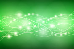 Energy lines on green background Royalty Free Stock Photo
