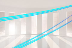 Energy lines in a room Royalty Free Stock Photo