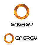 Energy Logo Circle Concept Royalty Free Stock Photography