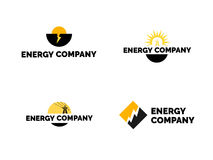 Energy logo  set. Set of energy company logos Royalty Free Stock Photography