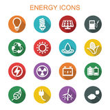 Energy long shadow icons Royalty Free Stock Photos