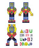 Energy man. Are you down with an underground? Royalty Free Stock Photos