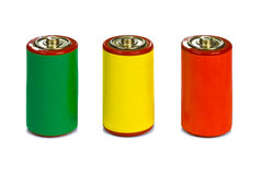 Energy management concept - green, red and yellow Stock Images