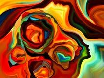 Energy of Mind Shapes Royalty Free Stock Photo