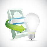 Energy money concept illustration design. Over a white background Royalty Free Stock Photo