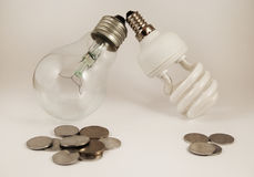 Energy and money saving Stock Image