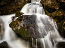 Energy, movement: Moving water, energy, waterfall Stream Royalty Free Stock Photography