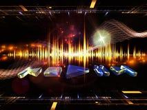 Energy of music Stock Image