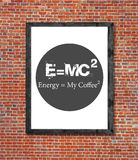 Energy and my coffee written in picture frame Stock Photo