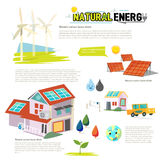 energy natural Οικολογία Infographic - διάνυσμα Στοκ εικόνες με δικαίωμα ελεύθερης χρήσης