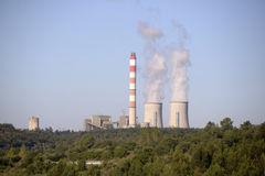 Energy, Nuclear Power Station, Pollution Planet Stock Image