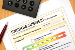 Energy performance certificate Stock Image