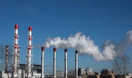 Energy plant stock images