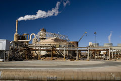 Energy Plant. Dirty, rusty electrical energy plant in the Southern California desert near Imperial Valley stock photo