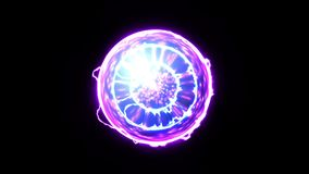 Energy ball. Energy Plasma Ball Nucleus on black background vector illustration
