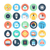 Energy and Power Colored Vector Icons 4 Stock Photography