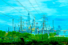 Energy power,eletric,cocept,overray Stock Photography